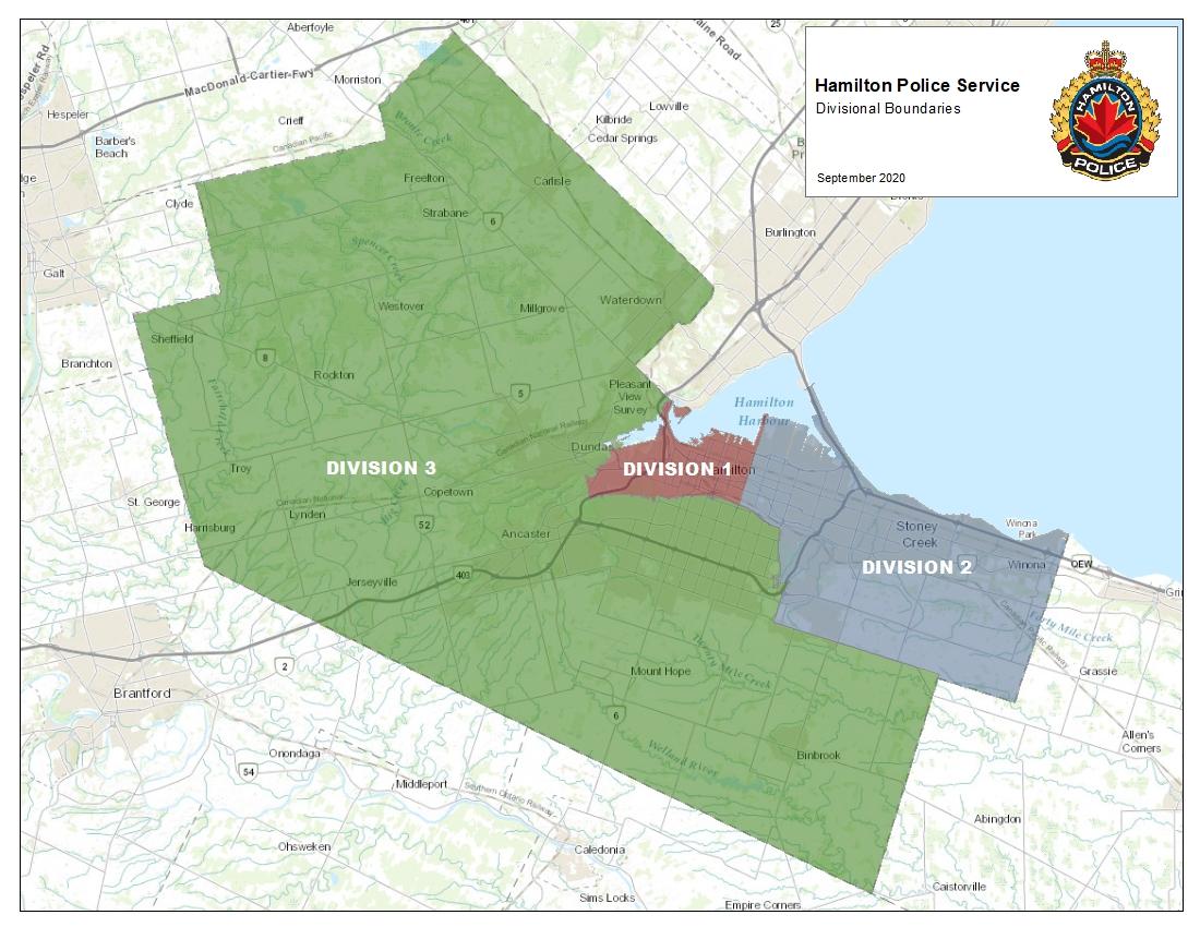 Divisional Boundaries Map